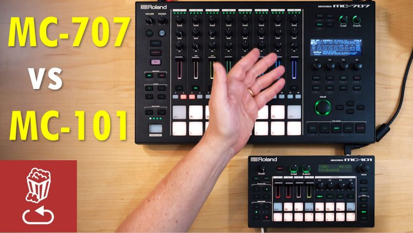 Roland MC101 vs MC707