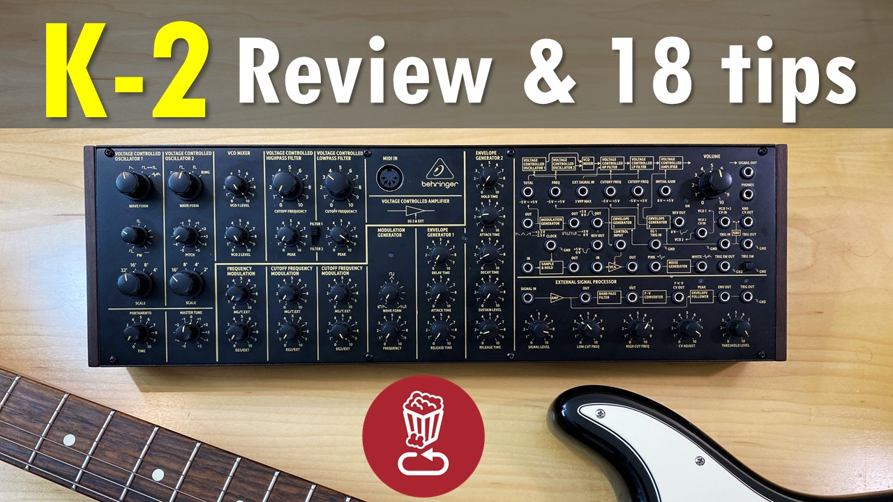 Behringer K-2 and MS-20 tutorial and review
