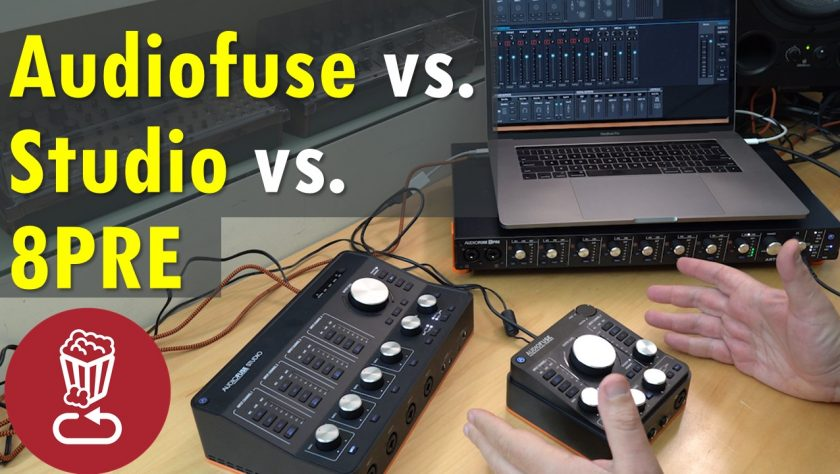 Audiofuse vs Studio vs 8PRE - audio interface buyers guide