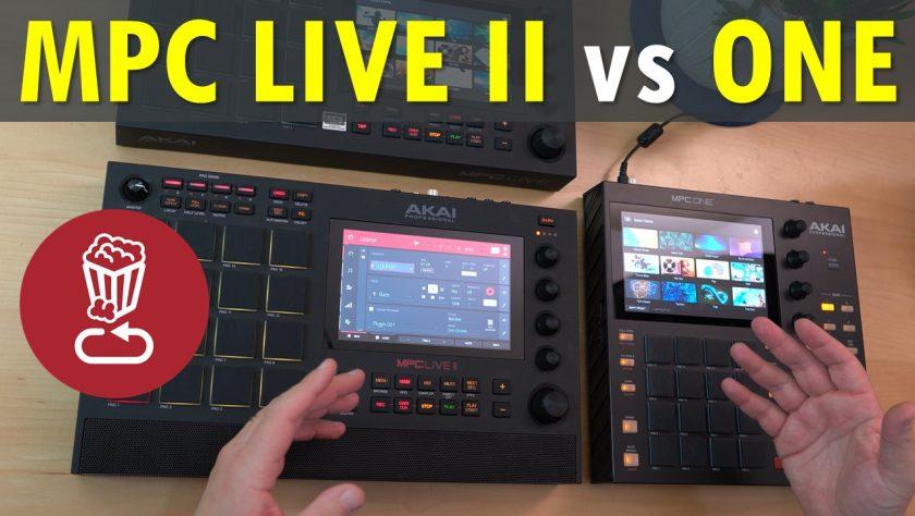 MPC LIVE II vs MPC ONE
