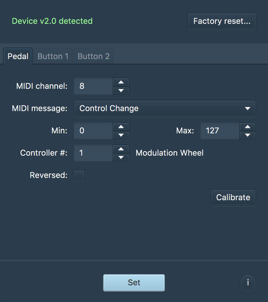 EX3 Expression Pedal Config